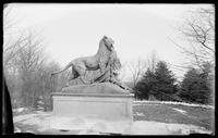 Tiger and cubs statue in Central Park, New York City, 1891.