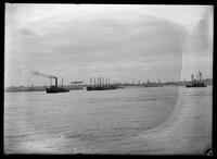 Assorted ships and boats in New York Harbor, April 27, 1902.