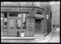 73 Pearl Street, with a bronze plaque marking it as the site of the first 'stadt huys' or city hall, New York City, 1891.