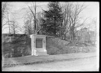 Tablet commemorating the Battle of Fort Washington, Fort Washington Avenue and W. 183rd Street, New York City, undated (ca. 1901-1919).