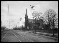 St. Peter's Church and cemetery, Westchester Avenue, the Bronx, New York City, March 26, 1905.