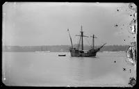 Replica of one of Columbus' ships in the Hudson River, New York City, undated (ca. 1893).