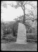 Monument to an Indian battle at Great Barrington, Massachusetts, May 30, 1905.