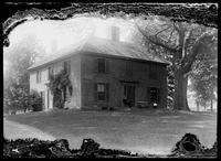 Munroe Tavern, Earl Percy's headquarters in 1775, Lexington, Massachusetts, undated (ca. 1890-1919). Emulsion damage.