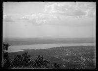 View of Newburgh, Beacon, and the Hudson River from Mount Beacon, New York, undated (ca. 1890-1919).