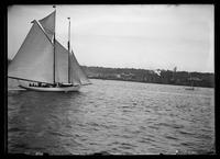 Unidentified yacht in the Hudson River during the Hudson-Fulton Celebration, New York City, September 26, 1909.