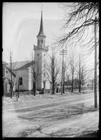 First Presbyterian Church of Newtown on Queens Boulevard east of Broadway, Elmhurst, Queens, New York City, undated (ca. 1882-1919).
