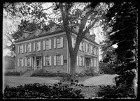 Van Cortlandt Manor House, Van Cortlandt Park, Bronx, New York City, undated (ca. 1890-1919). Emulsion damage.