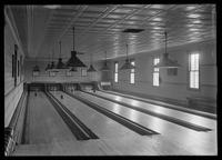 Bowling alleys of the Old Point Comfort Hotel, 4018 Boston Road, Eastchester, Bronx, New York City, undated (ca. 1900-1919).