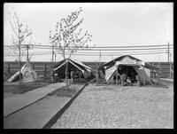 Performers' tents, Buffalo Bill's Wild West Show, Brooklyn, New York City, undated (ca. 1894-1896).