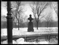 Bust of Washington Irving, Bryant Park, New York City, undated (ca. 1885-1919).