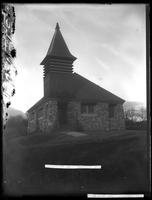 Unidentified rural stone church, undated (ca. 1890-1919).