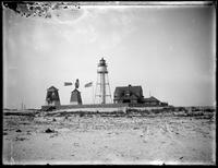 Coney Island Light (Norton's Point Light), Sea Gate, Brooklyn, undated (ca. 1882-1919). Emulsion damage.