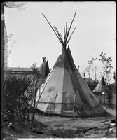 Performers' teepees, Buffalo Bill's Wild West Show, Brooklyn, New York City, undated (ca. 1894-1896).