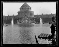 Temple of Music at Midway, Pan American Exposition, Buffalo, New York, 1901. Emulsion damage.