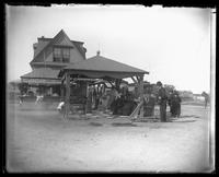 Unidentified pavilion near Brighton Beach, Brooklyn, 1895.