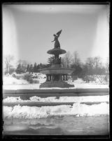 Bethesda Fountain in winter, Central Park, undated (ca. 1882-1919).