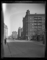 View of Broadway near Times Square, with the Hotel Astor visible at left, and the Criterion Theatre at right, New York City, 1905.