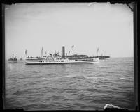 The steamer 'Republic,' near New York City, undated (ca. 1882-1919).