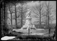 The Lorelei Fountain (Heinrich Heine Memorial), Bronx, New York City, undated (ca. 1899-1919). Emulsion damage.