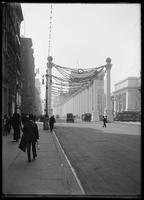 Columns of the court of honor on Fifth Avenue erected for the Hudson-Fulton Celebration, New York City, 1909.