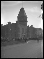 The 22nd Regiment leaving the old armory at 1988 Broadway, April 19, 1913.