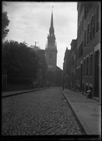 Christ Church (Old North Church) viewed from Hull Street, Boston, Massachusetts,     undated (ca. 1882-1919).