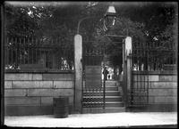 The Hull Street entrance to Copp's Hill Burying Ground, Boston, Massachusetts,     undated (ca. 1882-1919).