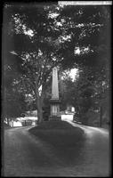 1836 memorial obelisk near the Old North Bridge, Concord, Massachusetts, July 7,     1890.