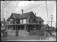 Unidentified house on Nashua Avenue, Marblehead Neck, Massachusetts, 1901.     Emulsion damage.