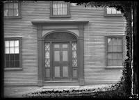 Front door of an unidentified house, Marblehead Neck, Massachusetts, 1901.     Emulsion damage.