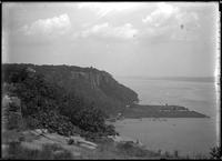 View of the Hudson River from the Palisades, New Jersey, undated (ca.     1882-1919).