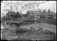 Unidentified hotel, Marblehead (?), Massachusetts, undated (ca. 1882-1919).     Emulsion damage.