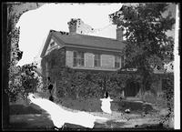 Clinton House, location unidentified, undated (ca. 1882-1919). Heavy emulsion     damage.