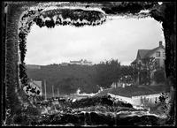 Unidentified hotel on a hill, Marcblehead Neck (?), Massachusetts, undated (ca.     1882-1919).