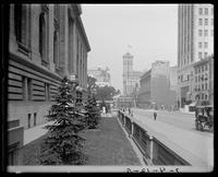 View looking west on 42nd St. from the New York Public Library to the Times Building, New York City, 1905.