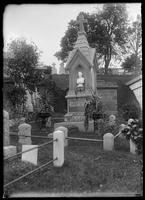 Monument on the grave of Barney Williams, Greenwood Cemetery, Brooklyn, New York City, undated (ca. 1890-1910).