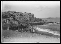 Castle Rock and the shoreline, Marblehead, Massachusetts, July 4, 1891.