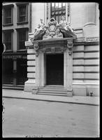 Entrance of the Chamber of Commerce building, New York City, July 3, 1904.