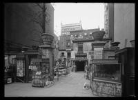 Curio shop on 28th Street, back of 5th Avenue (?), New York City, 1913.