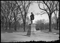 Shakespeare statue, the Mall, Central Park, New York City, undated (ca. 1890-1910).