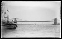 Brooklyn Bridge from the East River at 12th Street, New York City, 1891.