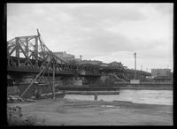 Marble Hill Avenue, elevated train station, and the Broadway Bridge, Bronx, New York City, 1916