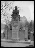 Alexander Lyman Holley statue in Washington Square Park, New York City, 1900.