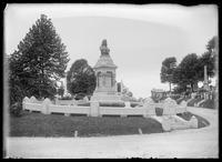 Elias Howe, Jr. monument in Greenwood Cemetery, Brooklyn, New York City, undated (ca. 1890-1910).