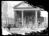 St. Paul's Chapel decorated for Columbus Day, New York City, undated (ca. 1890-1910).