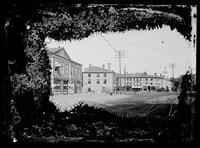 Market Square, with modern fire house at left, Newburyport, Massachusetts, July 18, 1896.