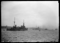 Battleships in the Hudson River for the Hudson-Fulton Celebration, New York City, September 26, 1909.