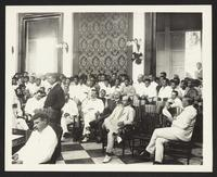 Meeting #1, unidentified men, Taft trip, (Philippines?), undated [circa 1905].