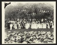 Lawn parties, (Philippines?), William Howard Taft and unidentified companions,  undated [circa 1905].